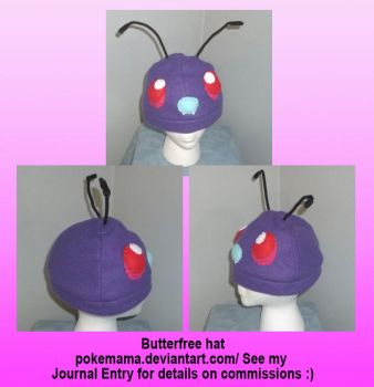 Butterfree hat (no wings) by PokeMama