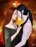 Feanor and Nerdanel by Adelaiy