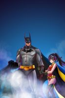 Batman And Loli Robin Art Jam by JohanneLight