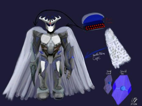 Mecha concept art (Magistrate Class) by AnansiOneiros