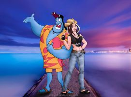 Genie and Hayley Caloway by ArchGet