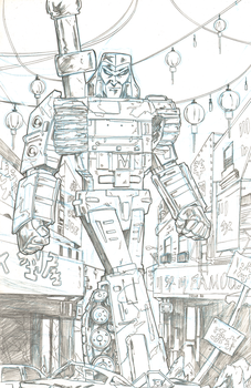 Transformers G2 Megatron pencils by Narcisticthinker