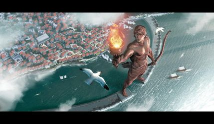 7 wonders colossus of Rhodes by MiguelCoimbra