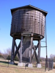 Wooden Water Tower by annehawholt