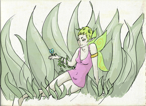 Plant Fairy by Gilokee