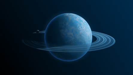 The planet Blueex by DarhaART