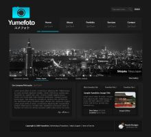 Yumefoto Photography Layout by neadodesigns