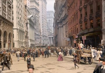 Curb Market in NYC, ca 1900 by Mygrapefruit