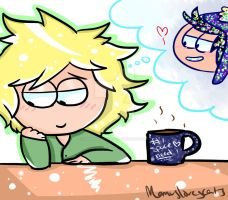 South Park- Daydreaming Coffee Bean by Momuslovescats