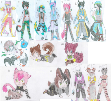 Adoptables! Needs to be Adopted 2! Closed by FoxiUzumaki