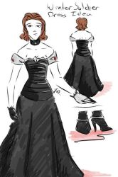 Winter Soldier Dress Idea by tamara-robitille