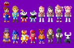 Video Games 2017 Character Collection 8 Bit by LustriousCharming