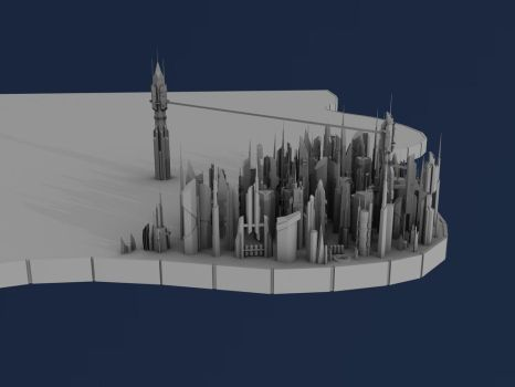 Ancient City WIP 2 by GlacialWaters