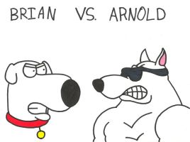 Brian vs. Arnold by saxguygb