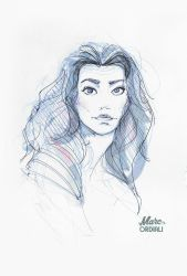 Drawing Portrait 01 by MarcOrdiali