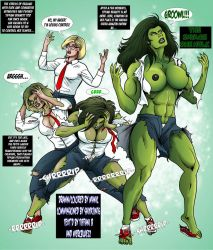 Tiffani  becomes Savage She-Hulk TF 1a Commission by mercblue22
