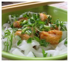 Chicken with rice noodles by topinka