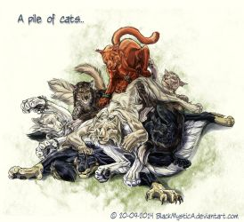 A pile of cats... by FelisGlacialis