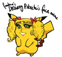 Drawing Pikachu's face - Candy by Zephind