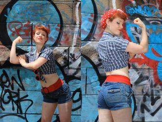 Rosie the Riveter by theprincessbee