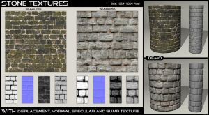 Stone Textures - 2 by AGF81