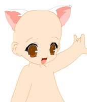 Kitty or Puppy Child Base by Apple-Rings
