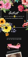 Artist Bundle - 10 Painting Photoshop Actions by hemalaya