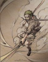 Roronoa Zoro by fredericayang