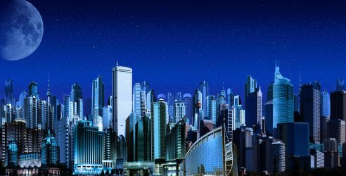 MegaCity II Night by goazilla