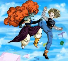 DBZ: Zangya vs 18? by TechnoRanma