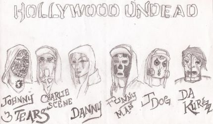 Hollywood Undead Notes From The Underground Masks by UnicronHound