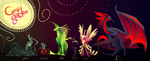 Curse garden character line up by dragonstonet