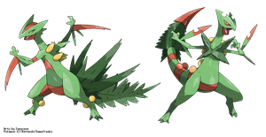 Mega-Sceptile vs Fake M-Sceptile (from me)