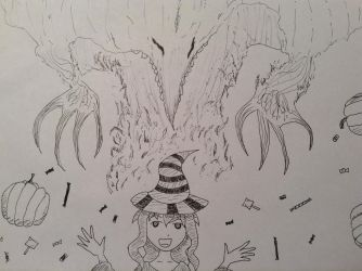 InkTober2015 #30 Treat Specter by Kitsune-of-Awesome