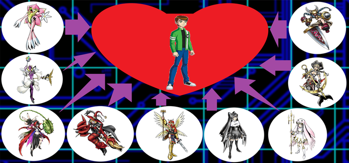 BEN 10's DIGIMON HAREM PART 2 by crossover-619
