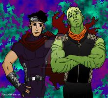 Wiccan and Hulkling of Young Avengers by TumbledHeroes