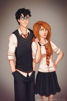 Harry and Ginny by Isuani