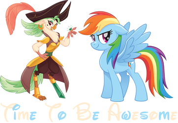 Time To Be Awesome (Captain Celaeno And Rainbow Da by hannah731