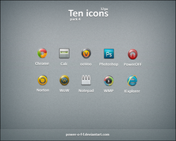 Ten Icons pack 4 by Power-O-F-F