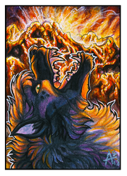 ACEO - Eruption [COMMISSION] by ARVEN92