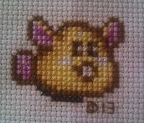 Secrets of Mana - Rabite - Cross stitch by kairi-chan16