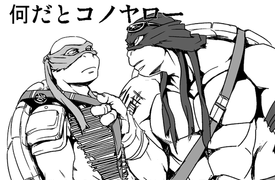 movie style raph and leo by FREAKfreak
