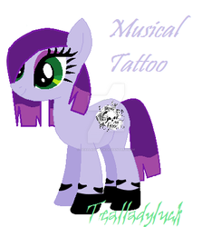 Musical Tattoo by TealLadyLuck