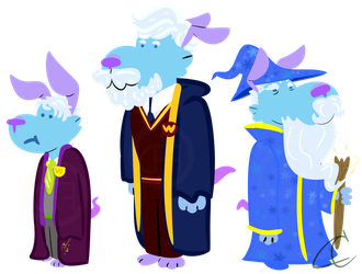 A Wizard throughout the Ages by drawingsforfun