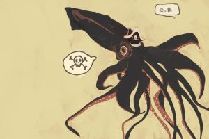 Pirate Giant Squid! by explodingHeath