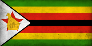 Grunge Flag of Zimbabwe by pnkrckr