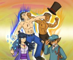 Professor Layton vs Ace Attorney for real by McGenio