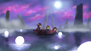 Boat on a Lake by Flashkirby-99