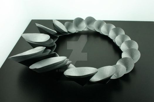 Paper Necklace - side view by TobyRM