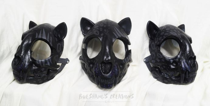 Custom Cat Skull MAsk - Black Panther by Bueshang
